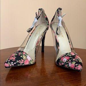 Liliana Floral Clear Heels